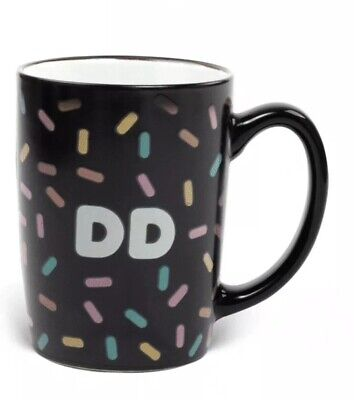 Dunkin' Donuts 16 oz ceramic black Coffee Mug COLOR CHANGING heat activated NEW