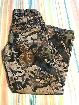 f3f02390 WRANGLER JEAN 32 X 30 MOSSY OAK FOREST FLOOR CAMO DOUBLE KNEE DENIM Free US  Ship