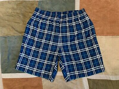 1b1382beb5 BURBERRY GUILDES BLUE check swim trunks shorts S mens NEW - $69.96 ...
