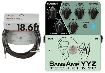 Tech 21 Geddy Lee Signature SansAmp YYZ Bass Guitar Effect Pedal ( FENDER 18FT )