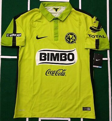 2187ea333b7 Nike Club America Jersey Third Gala Green 2015/16 Authentic For Men  Original Nwt
