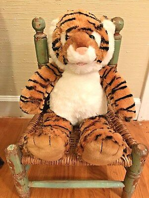 Build A Bear Tiger Collectible Plush Shaggy Striped Plush Toy Clemson or Auburn