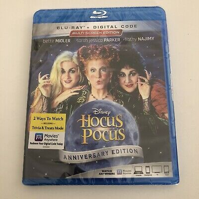 HOCUS POCUS Blu-ray + Digital Brand New Sealed Anniversary Edition
