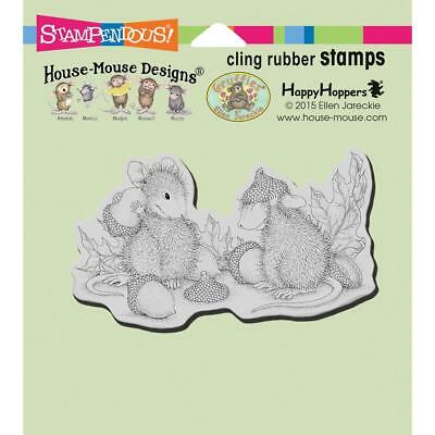 Pig Piglet Pals HOUSE MOUSE Wood Mounted Rubber Stamp STAMPENDOUS HMR55 New