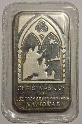 1984 Christmas Joy National Canada 1 oz .999 fine silver art bar sealed
