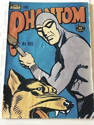 Frew phantom comic book. Issue 485. stains. Very good  condition