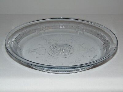 Vintage FIRE KING Pie Plate Philbe Sapphire Blue Glass Ovenware Anchor Hocking