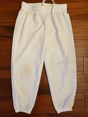 Adidas ClimaLite Boys Girls White Pull-Up Baseball Softball Pants Youth Large L