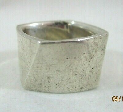 Tiffany & Co. Frank Gehry Sterling Silver Torque Ring Size 6