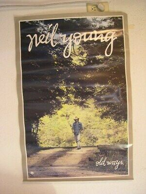 Neil Young Old Ways Poster Vintage 80s
