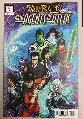 WAR OF REALMS NEW AGENTS OF ATLAS #1 1st App 1:50 ZIRCHER HTF VARIANT 2019