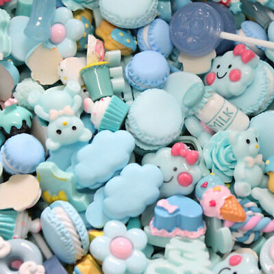 50PC Assorted Sweets Food Resin Kawaii Flatback Craft Cabochon Wholesale Dessert