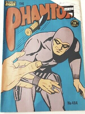 Frew Phantom comic book issue 484 cut corner o/w As new  Excellent condition