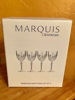 Waterford Marquis Markham White Wine Glasses, Set of 4, Brand New
