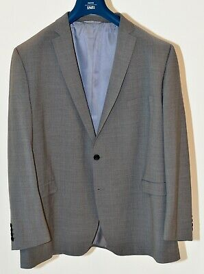 Moss Bros 1852 Men's Grey Business Suit Size 52R Jacket with 38R Trousers