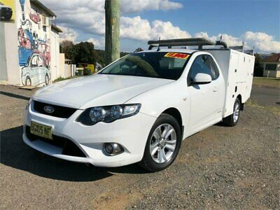 2010 Ford Falcon FG XR6 Winter White Automatic A Cab Chassis
