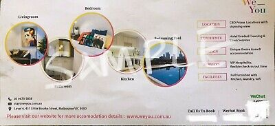 Gift voucher: Accomodation at City of Melbourne: 1 bedroom - 5 days 4 nights