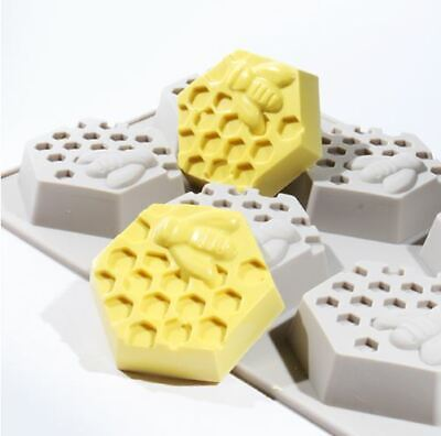 Honeycomb 6 balls Silicone soap Mould plaster Mold