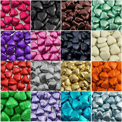 SPECIAL OFFER  50 FOIL WRAPPED BELGIAN MILK CHOCOLATE  HEARTS fgf