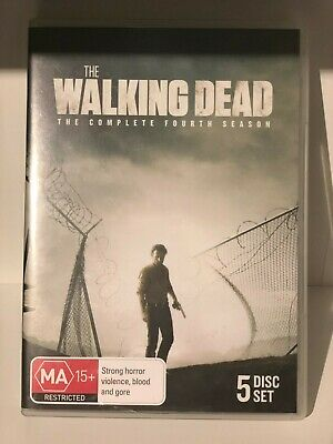 The Walking Dead: Season 4 (DVD, 2014, 5-Disc Set) - Watched Once