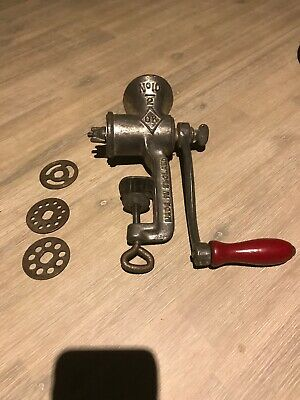 OK Cast Iron Vintage Meat Grinder No.10 - Made in England