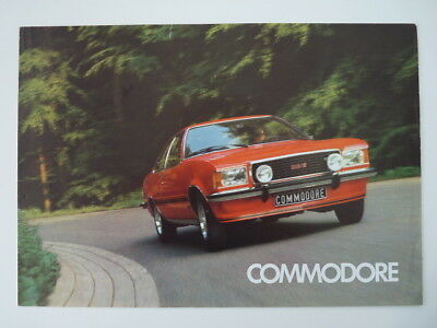 Vouwfolder Opel Commodore  1976 (N) !
