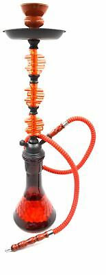 "New 24"" Red Apple Design Glass Vase Hookah Shisha Smoking Pipe Plastic Hose"