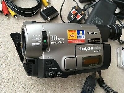 Sony SteadyShot Handycam Video Hi8 CCD-TRV64E, inc. charger, tapes, batteries.