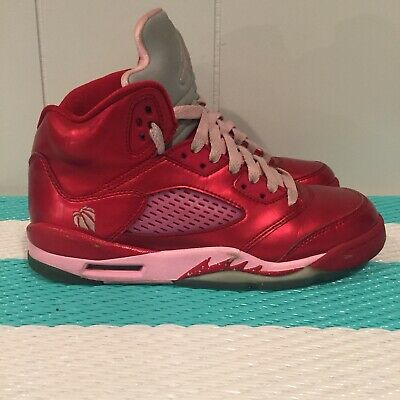 buy popular 26ed1 4a9e2 Air Jordan 5 V Retro GS Size 4Y Girls Gym Red Ion Pink Valentine s Day 4