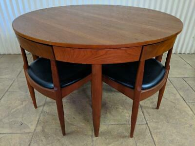 Rare and ORIGINAL Retro ERNST HANSEN 7 piece Teak DINING Setting Eames DANISH