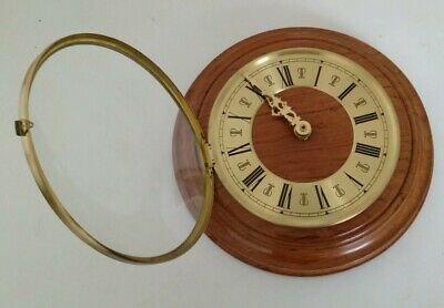Vintage Brass and Wooden Wall Clock