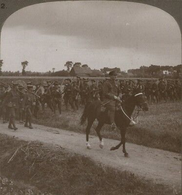 The Manchesters Crossing a French Farm on the Way Back From the Trenches