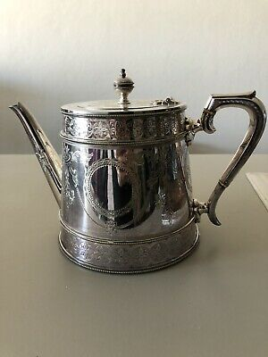 Vintage retro SILVER PLATE TEAPOT markings EXC COND Collectable