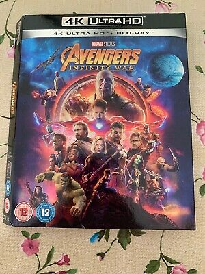 Avengers Infinity War 4K Ultra HD UHD Blu ray Slipcover Only