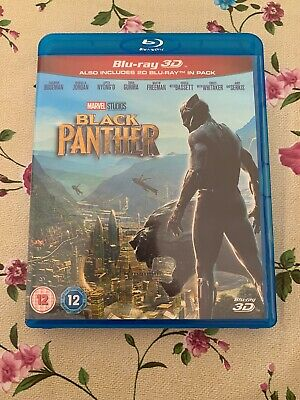 Black Panther 3D Blu Ray (includes 2D Disc)