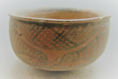 Beautiful Ancient Indus Valley Harappan Terracotta Vessel Bird Motifs 2000Bce