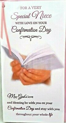 NEPHEW CONFIRMATION CARD ~ PRAYING HANDS DESIGN ~ QUALITY CARD /& LOVELY VERSE