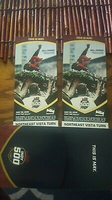 Indy 500 tickets 2019 2 Sec 16 Row H Seats 13-14
