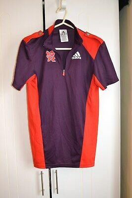 Adidas London 2012 Olympic Games  Purple/Red T-Shirt Top.size 2Xs