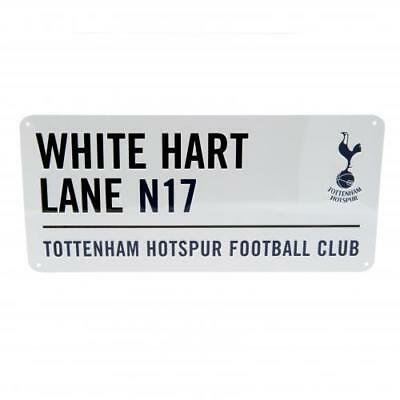 Tottenham Hotspur Official Crested Street Road Sign White Hart Lane Spurs