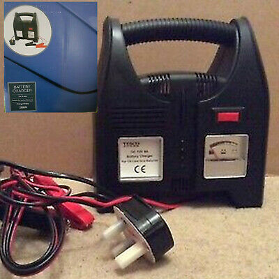 Battery Charger 12V, 4 Amp Analogue Display, Full Charge Cut Off Mode    BNIB