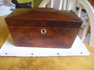Antique from late Victorian sarcophagus tea caddy in Rose wood.