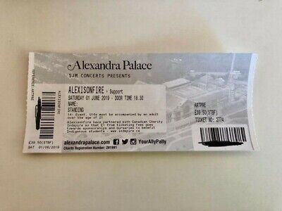 Ticket for the Alexisonfire Show in London