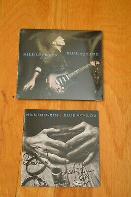 """Nils Lofgren """" Blue With Lou """"  Autographed CD with COA ~ 2019"""