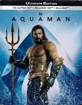 AQUAMAN (Jason Momoa) 4K Ultra HD + Blu-ray 3D + Blu-ray Disc, Steelbook NEU+OVP