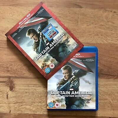 Captain America: The Winter Soldier Blu Ray 3D Only, Comes As Seen In Photos!