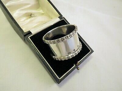 Large Heavy Scottish Sterling Silver Napkin Ring 1902 Hamilton & Inches Dundee