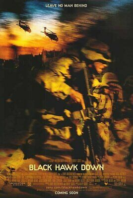Black Hawk Down - Teaser - Original movie theater poster 27x40 Double-sided
