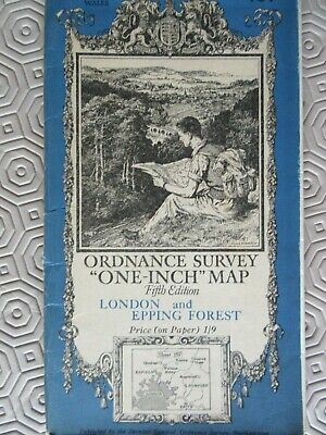 Ordnance Survey Map 1935 London And Epping Forest