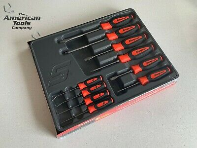 *NEW* Snap On 10-pc Orange Screwdriver Awl, Hook & Pick Set SGDX60204CO